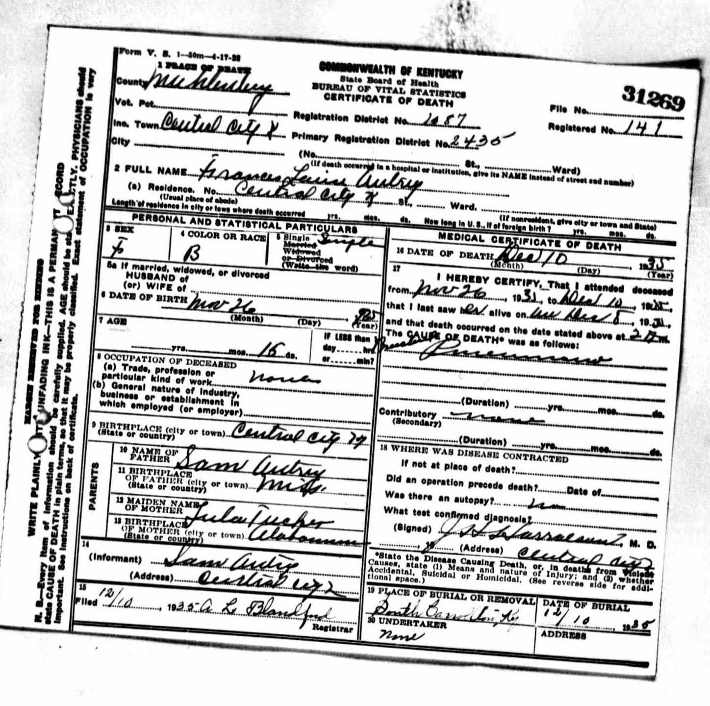 Death Certificates A