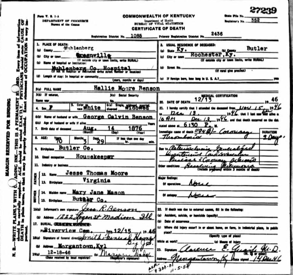 Death certificates be kentucky death certificate 27239 xflitez Choice Image