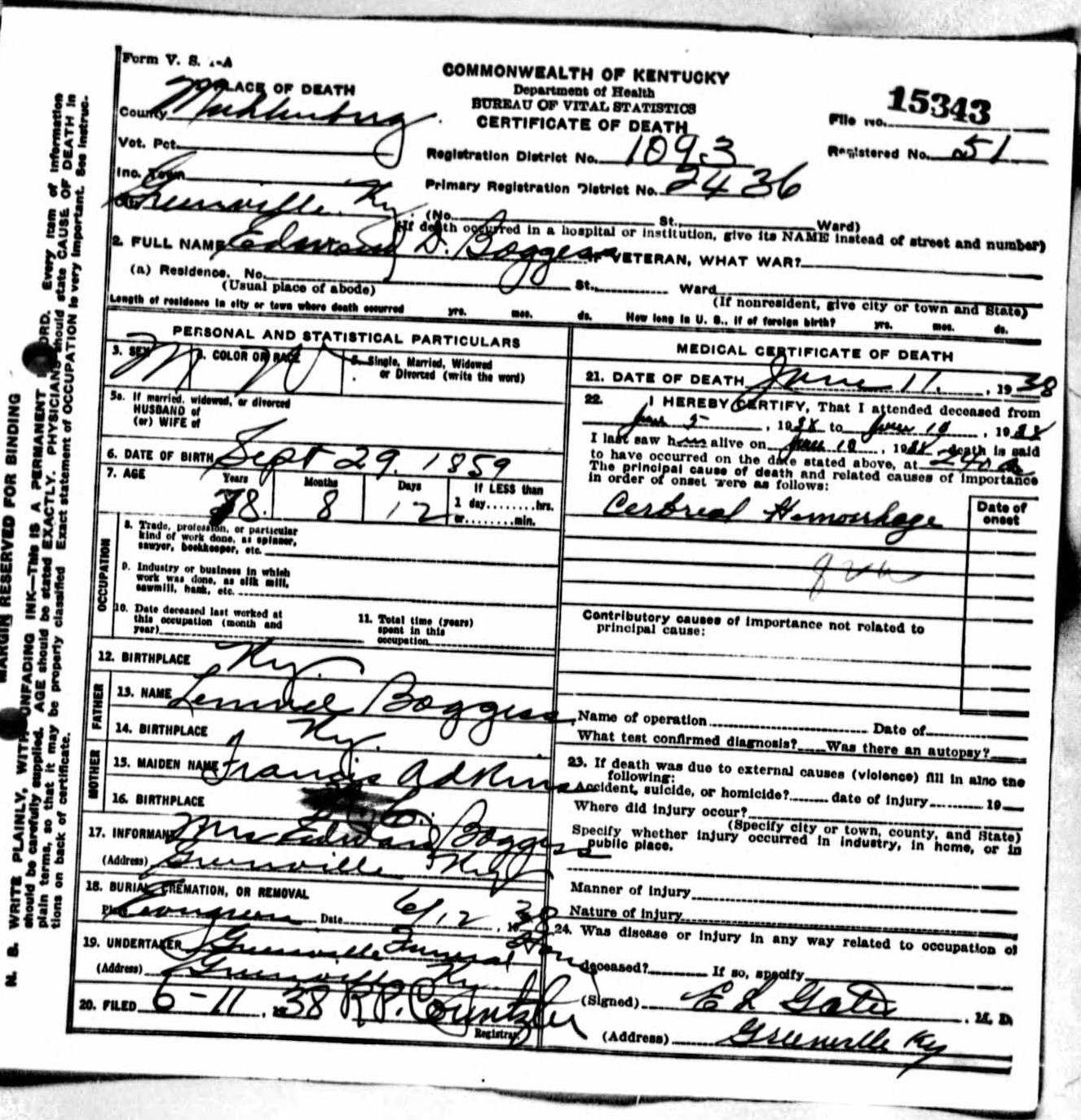 Death certificates bo kentucky death certificate 15343 aiddatafo Images