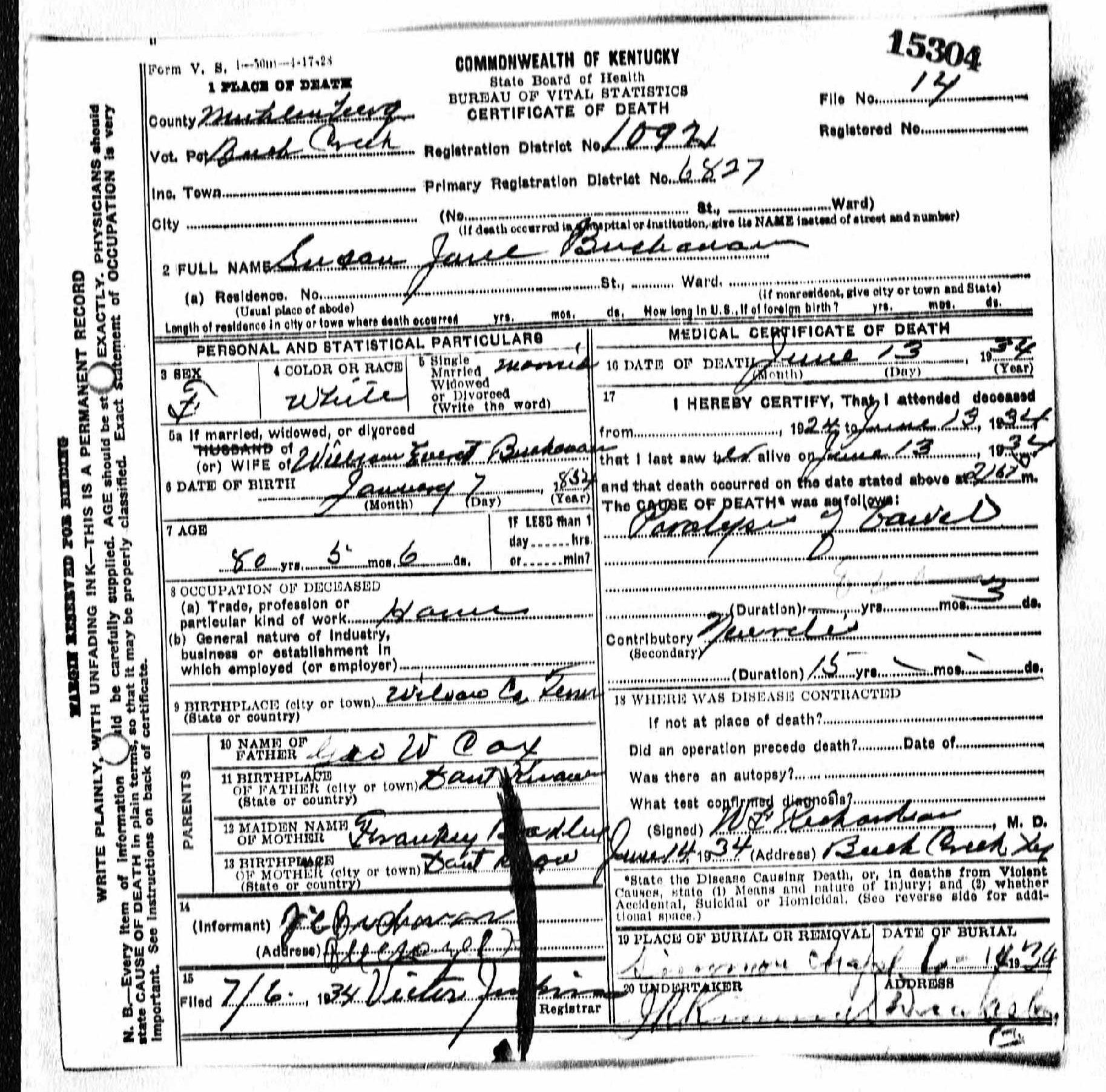 Death Certificates Bu