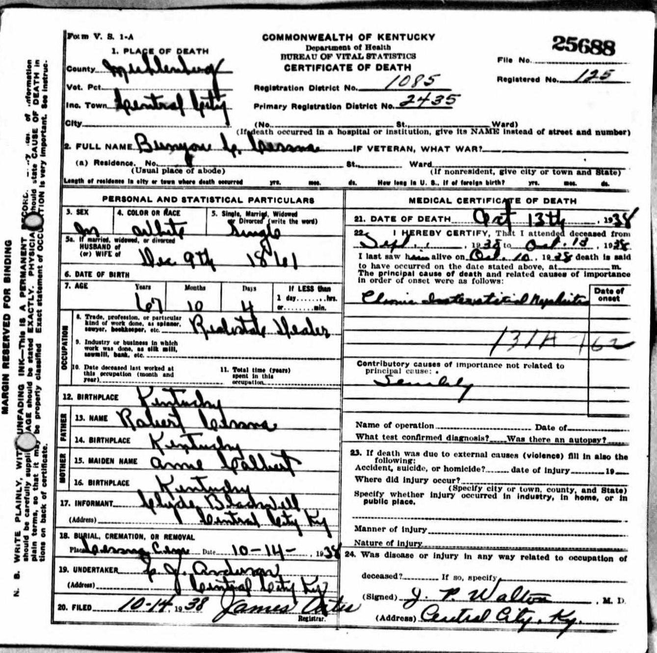 Death certificates ce kentucky death certificate 25688 xflitez Choice Image