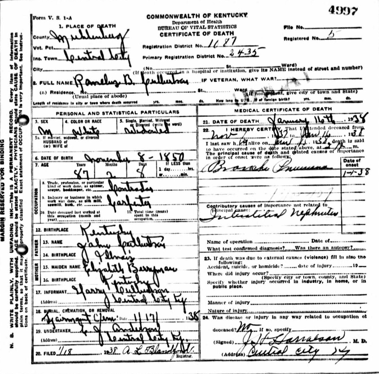 Death certificates cu kentucky death certificate 4997 xflitez Choice Image