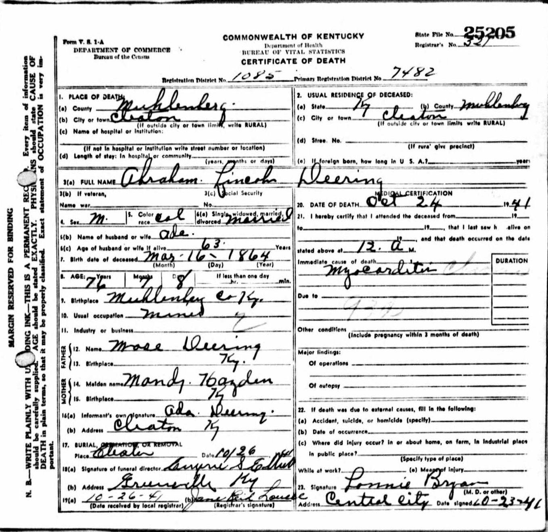 Haitian Birth Certificate 1864: Death Certificates De