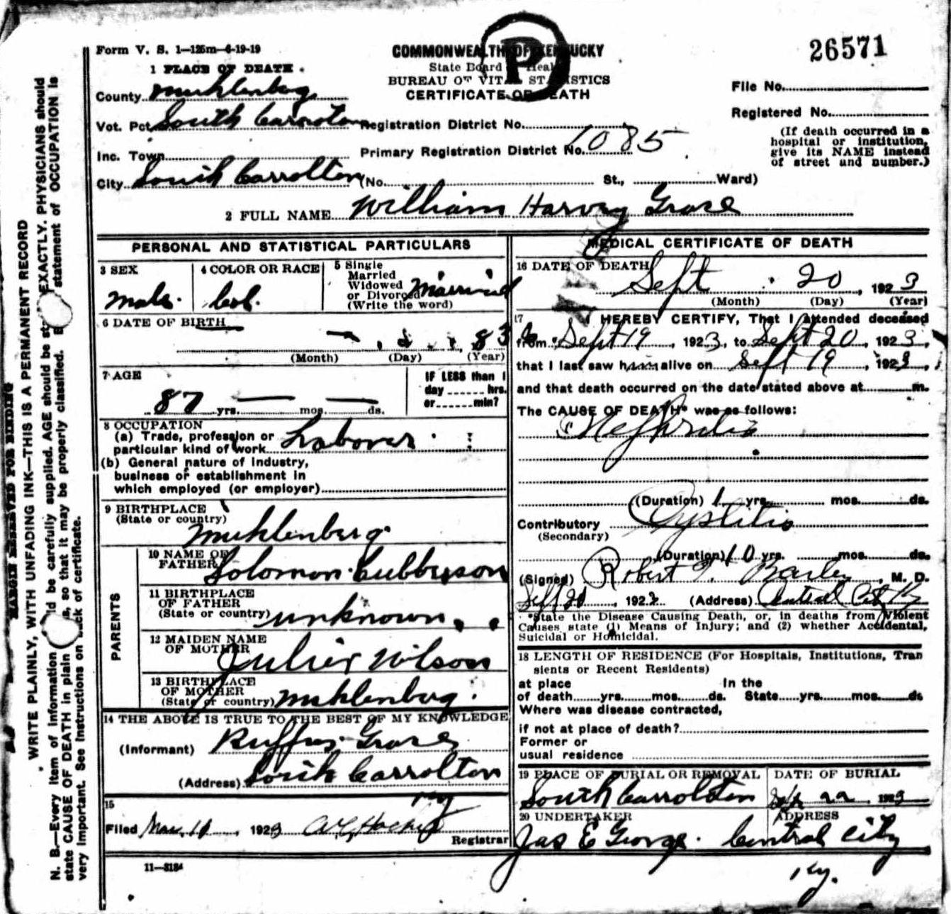 Death Certificates Gr