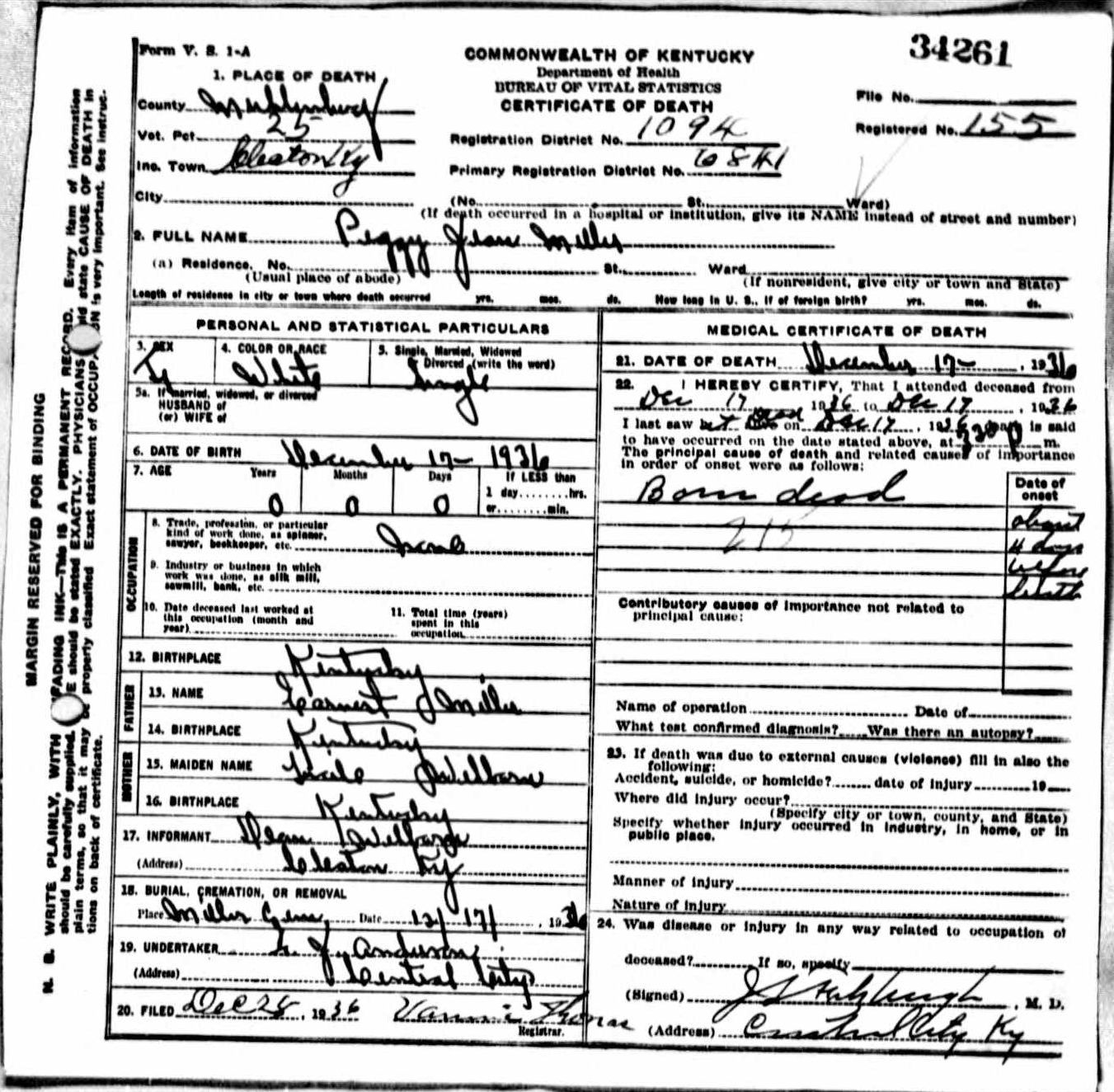 Death certificates m kentucky death certificate 34261 1betcityfo Images