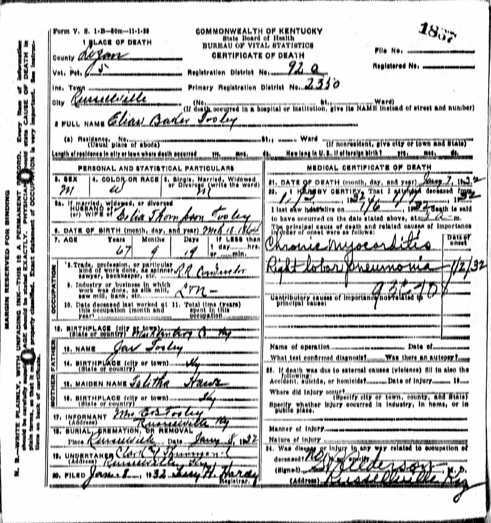 Death Certificates T