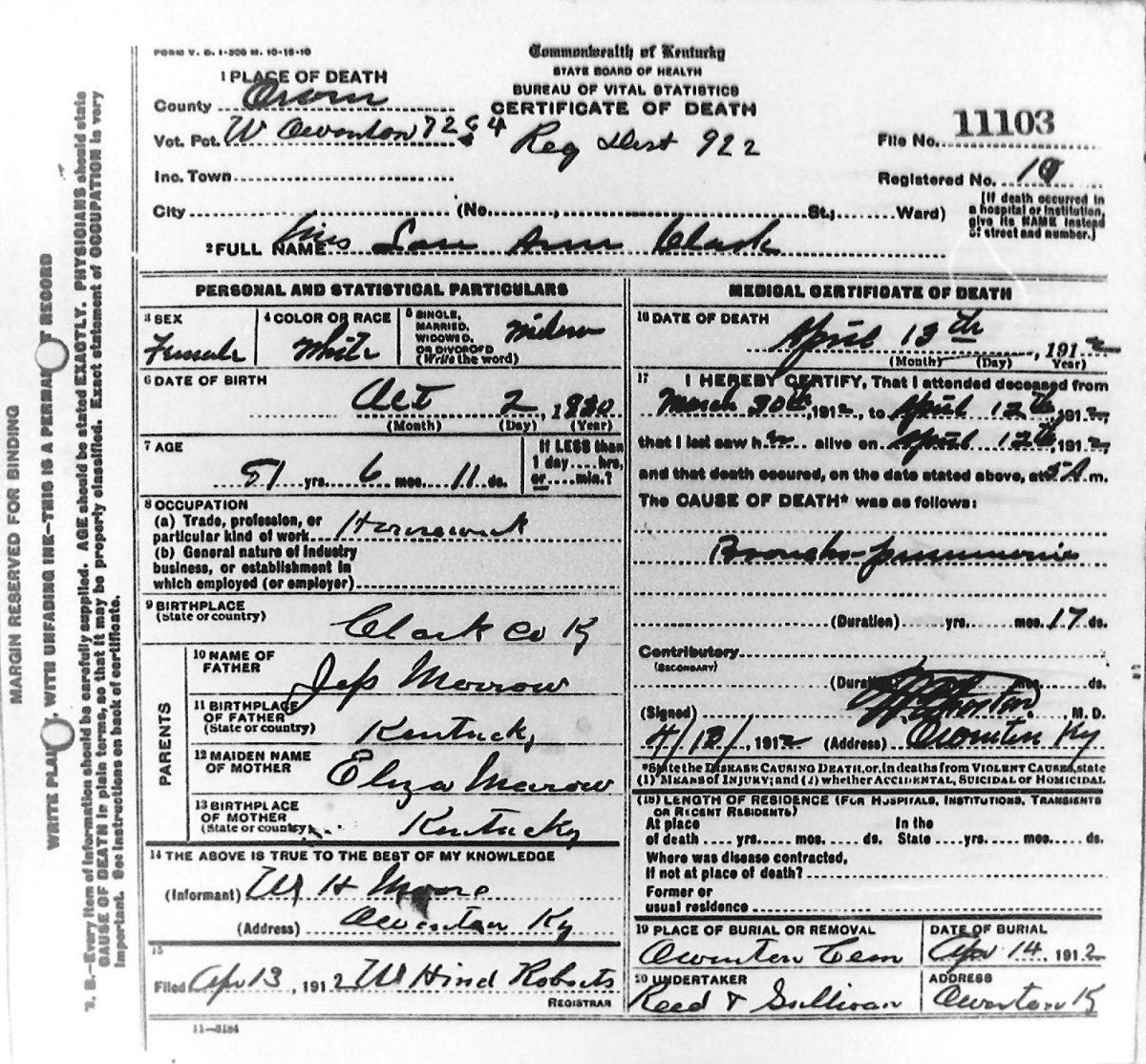 Owen County Scanned Death Certificates